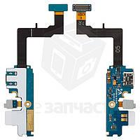 Шлейф для мобильного телефона Samsung I9105 Galaxy S2 Plus, коннектора зарядки, микрофона, с компонентами