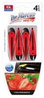 Освежитель воздуха автомобильный на вентиляционную решетку Dr. Marcus Easy Clip Strawberries 4 шт.