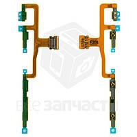 Шлейф для мобильных телефонов Sony C6502 L35h Xperia ZL, C6503 L35i Xperia ZL, C6506 Xperia ZL, кнопки включения, боковых клавиш, с компонентами