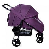 Коляска прогулочная CARRELLO Strada CRL-7305 Royal Purple резиновые колеса, фото 2