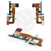 Шлейф для мобильного телефона Huawei Ascend P6-U06, коннектора зарядки, с компонентами