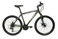Велосипед горный Fort Falcom 26 DD» Alloy черно-зеленый  2016 (матовый)