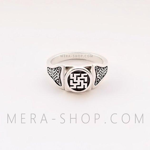 Новородник кольцо оберег из серебра 925 пробы