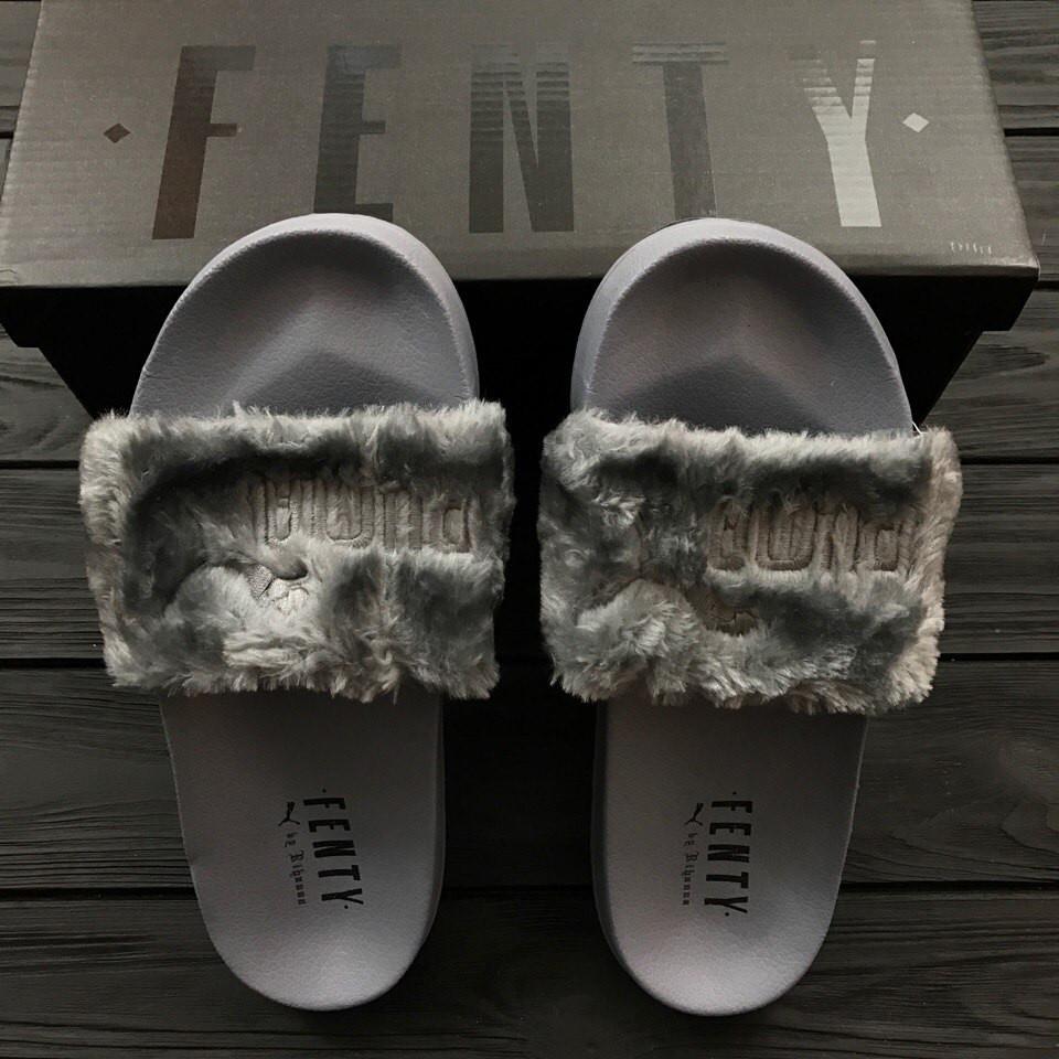 Тапочки женские Fenty Puma By Rihanna Grey