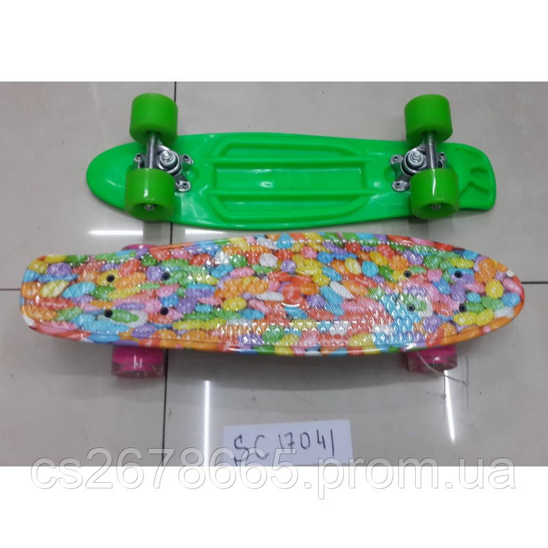 Скейт SC17042 металлическое крепление, полиуретановые колеса