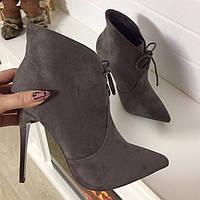 Ботинки короткие деми серые