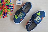 Джинсовые кеды слипоны детская спортивная текстильная обувь Том.м р.28,29,31,32