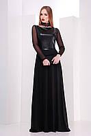 Длинное женское черное платье Салина Glem 44-48 размеры