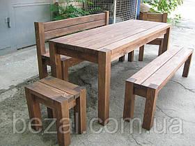 Мебель садовая из натурального дерева  Альфа КОМПЛЕКТ 1,6м