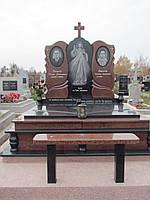 """Мемориальный гранитный комплекс с оградкой """"Пламя души"""""""