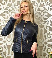 Стильная курточка ШАНЕЛЬ на молнии,цвет черный,синий