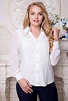 Нарядная белая блузка Венера