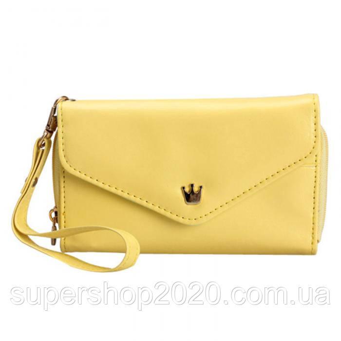 Жіночий гаманець Сrown Yellow