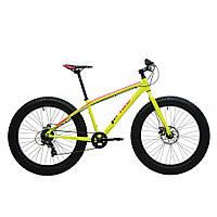 Велосипед 26'' Pride Trophy 1.0 рама - XL желтый неон/красный лак 2017