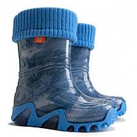 Детские резиновые сапоги Demar Stormic Lux Print AC (Джинс Стар) размеры 20-23