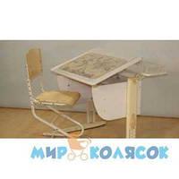 Набор универсальной мебели ДЭМИ стол СУТ.14-11 и стул СУТ.01-01 бежевый ( Д 20031314 )