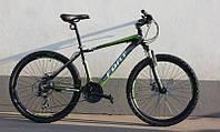 Велосипед горный Fort Pro Expert 26» Alloy черно-зелено-серый (матовый) 2016
