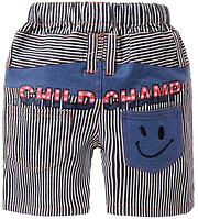 Модные джинсовые шорты в полоску