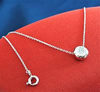 Серебряное родированное колье 925 пробы с Фианитами