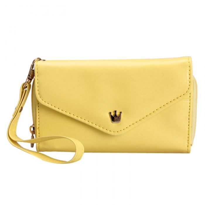 Женский кошелек Корона Yellow