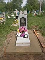 Одиночный памятник на могилу из гранита с портретом
