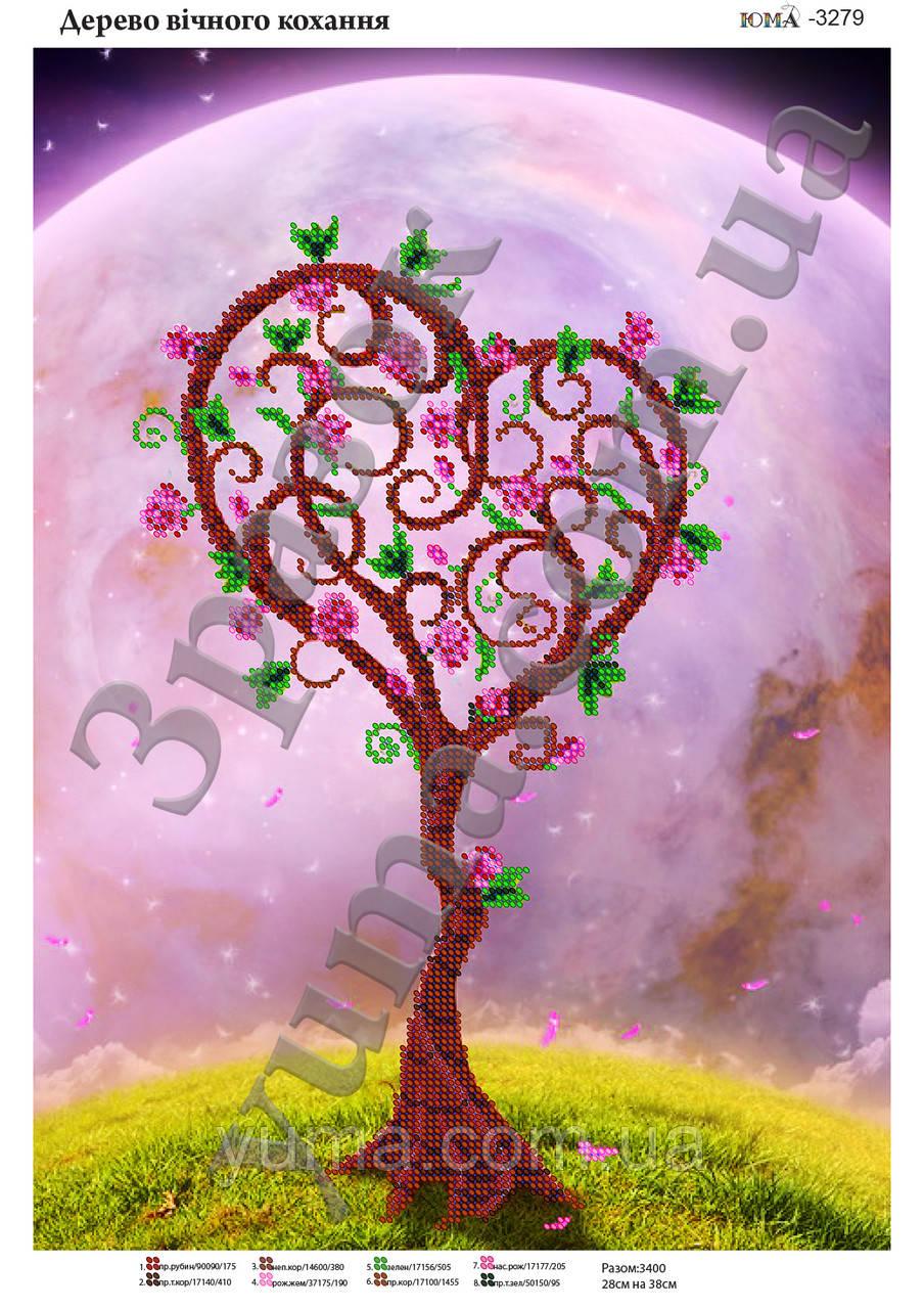 """Схема для вышивки бисером """"Дерево вечной любви"""""""