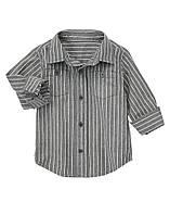 Рубашка серая в белую полоску Gymboree