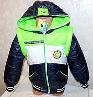 """Куртка - жилетка на мальчика """"трансформер"""" демисезонная"""