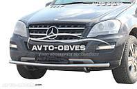 Защита бампера Mercedes-Benz ML class W164 одинарный ус (п.к. V001)