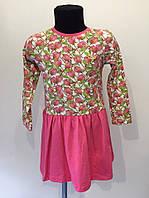 Платье трикотаж Pink с розами р. 98,104 см