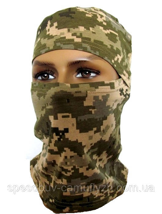 Балаклава ВСУ, маска, подшлемник, цвет Пиксель