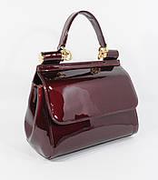 Лаковая сумочка Valensiy 24127 марсала (темно-бордовая), расцветки
