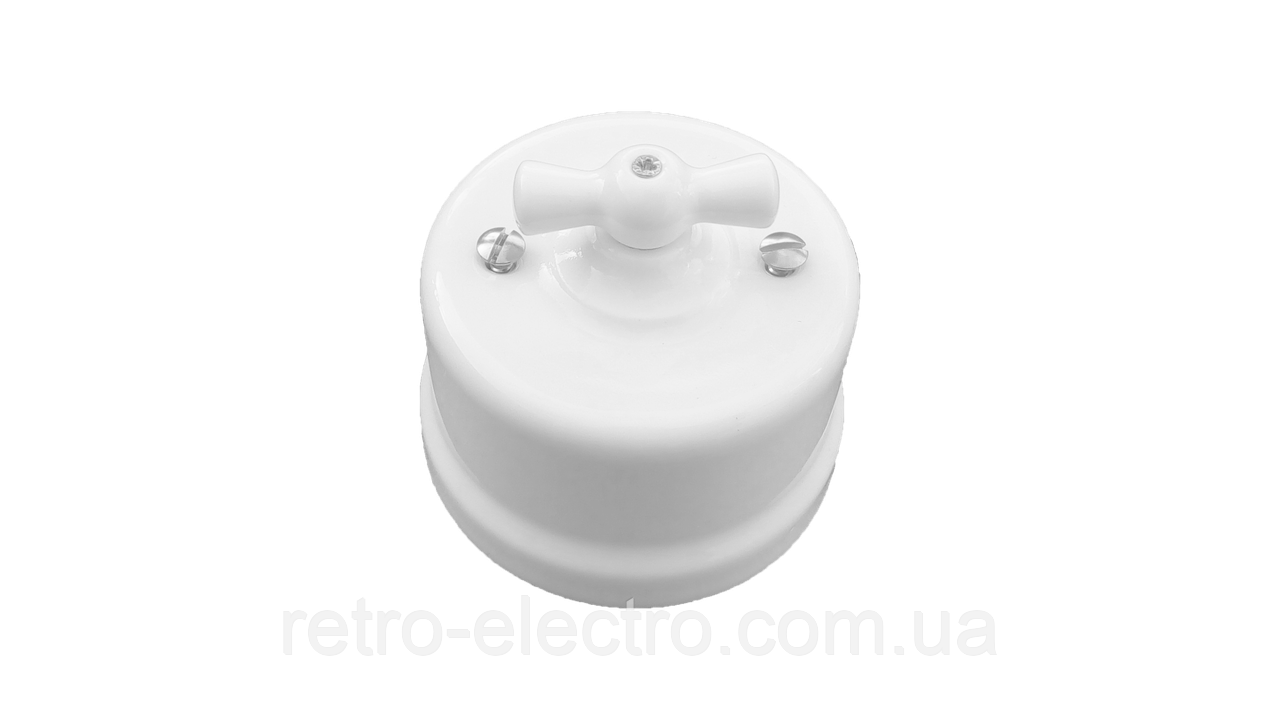 f5150fde0649 Выключатель белый керамический BIRONI (одноклавишный)  продажа, цена ...
