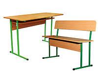 Комплект ученический 2-местный с лавкой (0148+0402) Нет, Нет, Нет, 760.0, 500.0, 1200.0, металл, 2, Нет, Гелика, ламинированная ДСП, парта ученическая двухместная (стол + скамья со спинкой), Черный