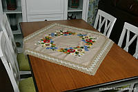 Столешница льняная с вышивкой, арт. ALT-69008Н