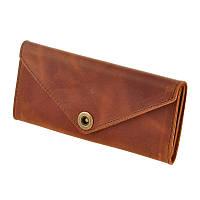 Женский кошелек из кожи 1.0 коричневый