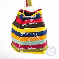 Еко-рюкзак с рисунком разноцветная - 728