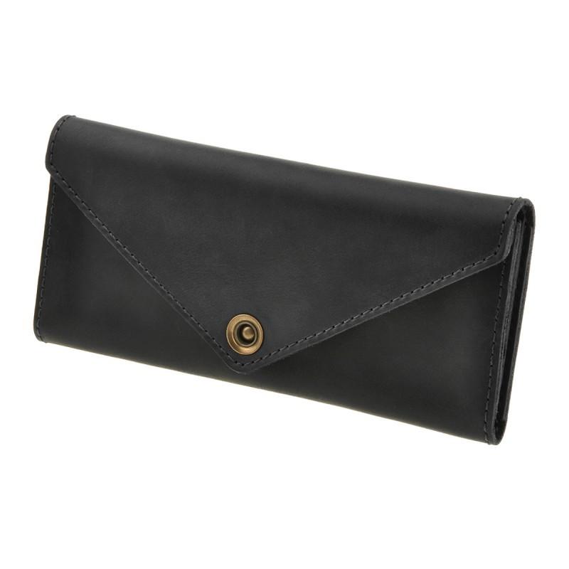 Женский кошелек из кожи 1.0 черный