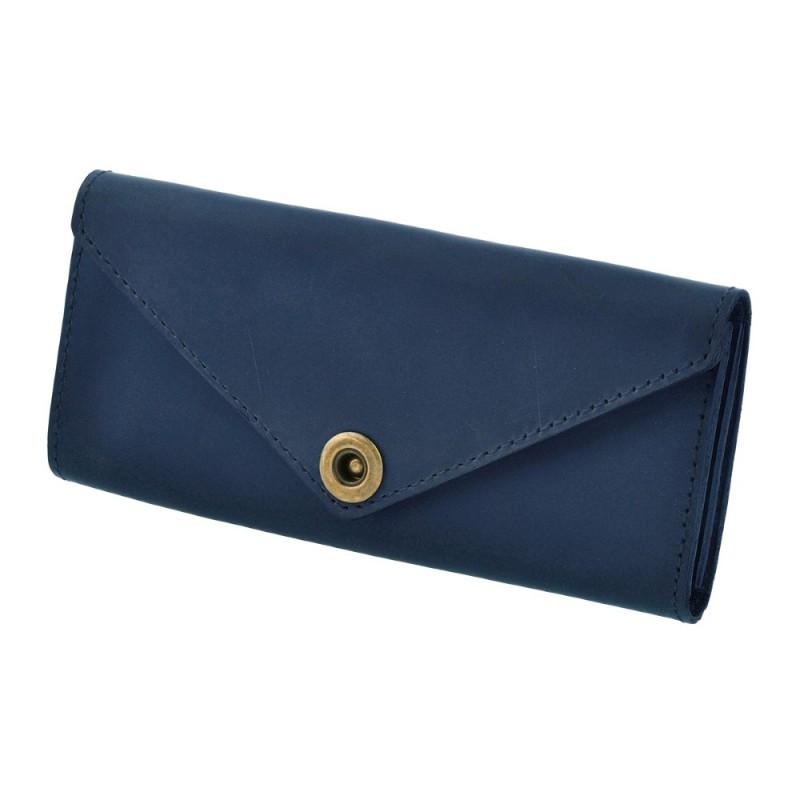 Женский кошелек из кожи 1.0 синий