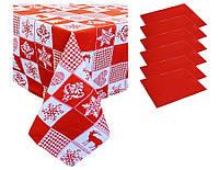 Набор подарочный скатерть и 6 салфеток Праздничный печворк ТМ Прованс
