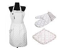Набор для кухни: фартук, рукавица и прихватка Ажур ТМ Прованс