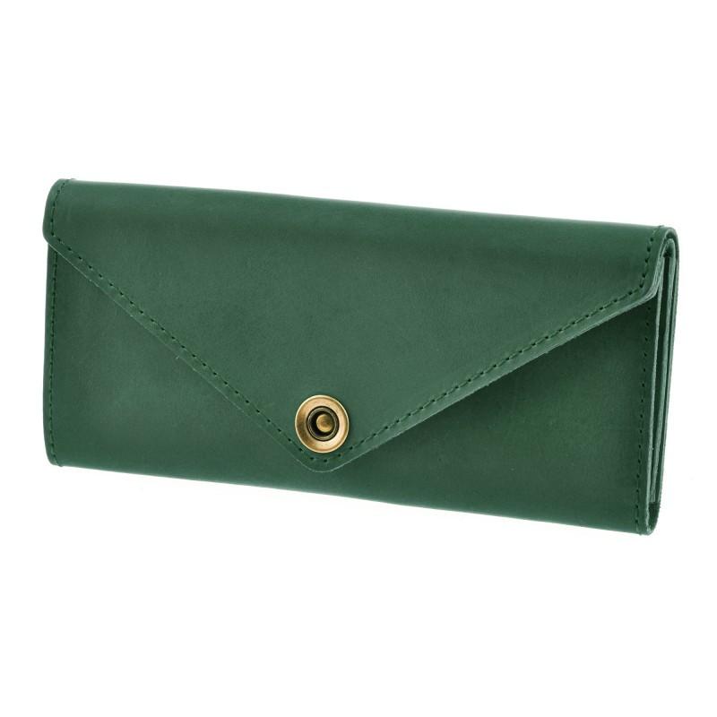 Женский кошелек из кожи 1.0 зеленый