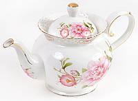 Чайник фарфоровый Китайская роза 1200мл