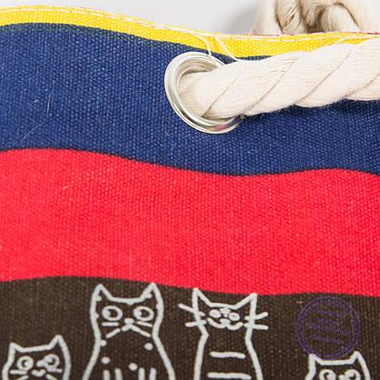 Экорюкзак с рисунком разноцветная с котиками - 728, фото 3