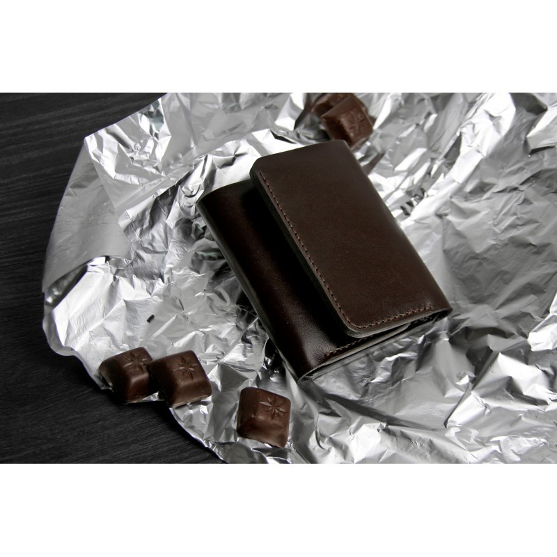 Шкіряне Портмоне 5.0 шоколад