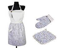 Набор для кухни: фартук, рукавица и прихватка Цветы Лаванда ТМ Прованс