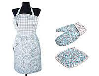 Набор для кухни: фартук, рукавица и прихватка Цветы Тиффани ТМ Прованс