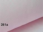 """Лоскут ткани №261а  """"Макароны"""" с мелкой полоской розового цвета, фото 2"""