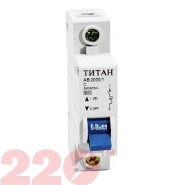Автоматичний вимикач  1Р 16А (6кА) Титан