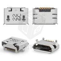Коннектор зарядки для мобильных телефонов HTC A3333 Wildfire, A9191 Desire HD, G10, G6, G8 , T8585 Touch HD2, T9292 HD7, 5 pin, micro-USB тип-B